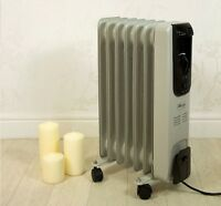 NEW ADJUSTABLE ELECTRIC 1500W 7 FIN COLD OIL FILLED RADIATOR THERMOSTAT HEATER