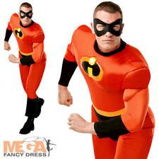 Mr Incredible Mens Fancy Dress Disney Superhero Incredibles 2 Adults Costume New