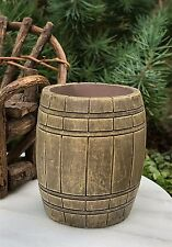Miniature Dollhouse FAIRY GARDEN Farm Accessories ~ Large Open Polyresin Barrel