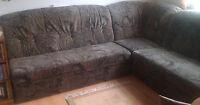 Couch XXL Wohnlandschaft Sofa SchlaffunktionXXL Microfaser braun Kuschelecke TOP