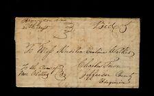 """Bruington Va. 25th Augst"" 1846 King & Queen County 3pg Thomas Walker letter"