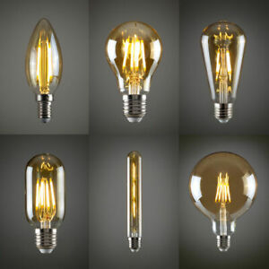 Vintage Industrial Filament LED Light Bulb Retro Edison A+ Pack Of 4 UK Stock
