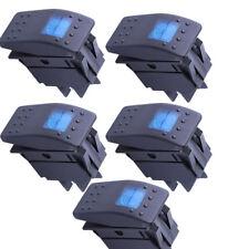 Lot5 Waterproof MARINE BOAT CAR Rocker Switch 12V ON-OFF 4 PIN Blue LED Light US