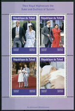 Chad 2019 MNH Prince Archie Royal Baby Harry & Meghan 4v M/S II Royalty Stamps