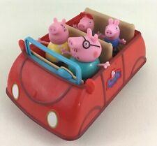 Peppa Pig Talking Family Car Playset 5pc Lot Daddy Mummy George Pig Toy Jazwares