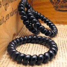 10*Women Elastic Rubber Wire Telephone Hairband Hair Ties Plastic Rope Hairband