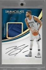 16-17 Immaculate Karl-Anthony Towns Sneaker Swatch Autograph Sole Piece #'d 7/10
