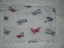 Pottery Barn Kids Airplane Pillow Case Red, White & Blue