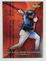 1999 Topps Finest Hank Aaron Award Contenders Alex Rodriguez HA7 refractor