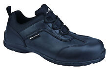Delta Plus Panoply Strategy Size 4 S1P Black Leather Safety Toe Cap Work Shoes