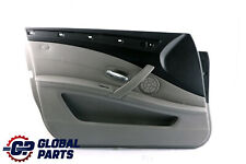 *BMW 5 Series E60 E61 LCI Front Left N/S Door Card Trim Panel Grey Leather