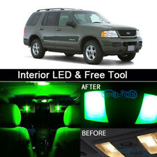 8x Green LED Lights Interior Package kit for 2002-2010 Ford Explorer+Free Tool