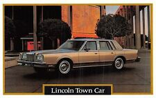 POSTCARD   MOTOR  CAR  ADVERT  LINCOLN    Town  Car      2