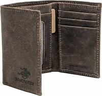 Winchester Mens Trifold RFID Wallet Full Grain Leather, Little Amarillo, Brown