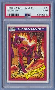 1990 Marvel Universe #78 Mephisto PSA 9 Mint series 1