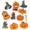 DIY Embroidered Halloween's pumpkin Sew Iron On Badge Patches Clothing Applique