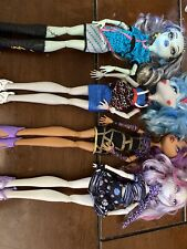 Monster High Dolls-Lot of 4 All Dressed