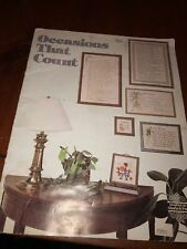 Designs Gloria & Pat Cross Stitch Pattern Booklet Occasions The Count