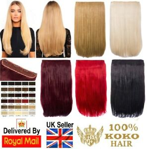 KOKO Hair 180g One Piece/Weft Straight Clip-in Hair Extensions Various Colours