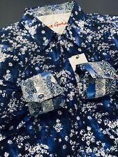 Robert Graham XL Mens Mens Rosecrans Flowers Blue White Long Sleeve New $248