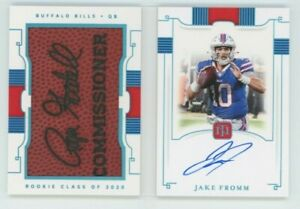 2020 National Treasures Jake Fromm /10 Rookie Jumbo Signatures Booklet #RJB-JF