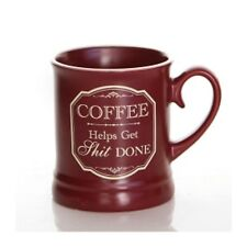 Coffee Mug - Coffee Helps Victoriana Novelty Humour Gift Homeware