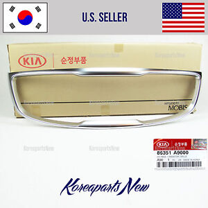 GRILLE FRONT BUMPER SURROUND (GENUINE) 86351A9000 KIA SEDONA 2015-2018