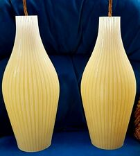 More details for mid century modern white/yellow iconic pendant ceiling hanging light - 2 availab