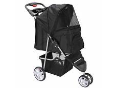 Pet Stroller Dog Cat Carrier Travel Jogger Folding 3 Wheel Walk Strolling Cart