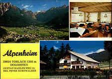 Toblach Dolomiten Alpenheim Südtirol Postcard Cartolina color Postkarte ~1970