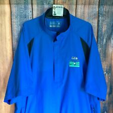 CUTTER & BUCK WeatherTec SEATTLE SEAHAWKS Pro Am 1/4 Zip S/S Golf Jacket 2XL
