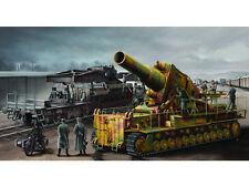 ◆ Trumpeter 1/35 Morser Karl-Gerat 040/041 on Railway Transport Carrier 00209