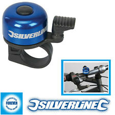 New Silverline One Touch Ping Bicycle Bell Hand Ring Cycle Bike Mountain Road