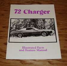 1972 Dodge Charger Illustrated Facts and Feature Manual 72