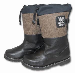 Russian Valenki Felt Boots 100% Wool&Leather Winter Hunting Walenki UGG Mukluks