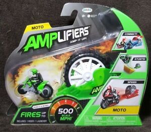 AMPLifiers Amp It Up! MOTO Motorcycle Rider & Launcher ~ 2018 Jakks Pacific