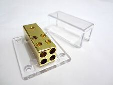 12V Wire Car Audio 1 In 4 Out Power Ground Distribution Block 4 8 Gauge