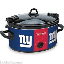 NY GIANTS Crock-Pot NFL 6-Quart Slow Cooker Cook and Carry NIB