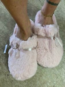 AirWalk Women's Pink Slipper Slides Faux Fur Liquidation Sale
