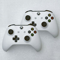 2 PACK-Original Microsoft Xbox One Wireless Controller White - Model 1708 USED