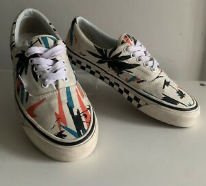 Vans Trainers Size Uk 7.5 style 95 Desert Island Palm Trees Great Condition