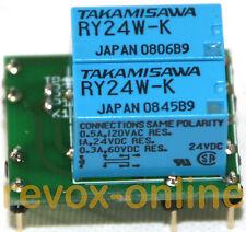 Relais NF4 EB-24V oder AZ7-4C-24V Ersatz, Flachrelais 4 x UM 2A von revox-online