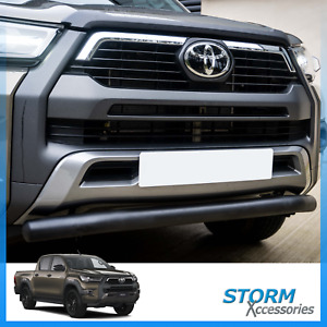 TO FIT TOYOTA HILUX MK9 2020> STX FRONT SPOILER CITY NUDGE BULL BAR IN BLACK
