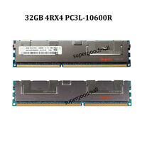 For Hynix 32GB 4RX4 PC3L-10600R DDR3L-1333MHz 240Pin Reg-DIMM ECC Server Memory