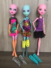MONSTER HIGH CAM Create A Monster Color Me Creepy Werewolf Sea Monster Lab Girl