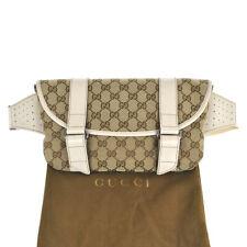 M30 GUCCI Authentic Waist Pouch Bumbag Belt Bag Fanny Pack Beige Leather Vintage
