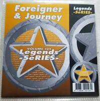 LEGENDS KARAOKE CDG FOREIGNER & JOURNEY ROCK OLDIES #104 17 SONGS CD+G 1980'S