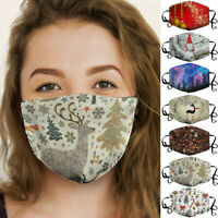 Adult Christmas Print Breathable Multi-Purpose Cover Mouth Mask Face masks