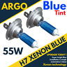 Pack Of 2 X H7 Xenon Headlight Bulbs Head Lamps Set Bright Mega Blue 12v 55w