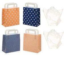 Blue & Peach Party Favor Tienda Boutique Bolsas de Regalo-estrellas o rayas tejido Plus
